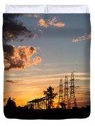 Power In The Sunset Duvet Cover