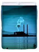 Power Station Silhouette Duvet Cover by Craig B