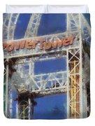 Power Tower Cedar Point Duvet Cover
