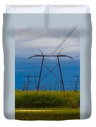 Power Towers Duvet Cover