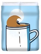 Powered By Coffee Duvet Cover