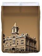 Powhantan Court House Sepia 2 Duvet Cover