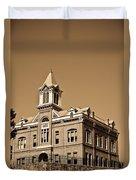 Powhatan Court House Sepia 5 Duvet Cover