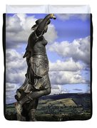 Powis Castle Statuary Duvet Cover