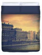 Prague Days Duvet Cover by Taylan Apukovska