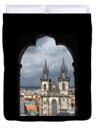 Prague From Town Hall Tower Duvet Cover
