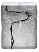 Prague Street Map - Prague Czech Republic Road Map Art On Colore Duvet Cover