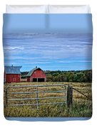 Prairie Barn And Pasture Duvet Cover