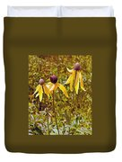 Prairie Coneflowers In Pipestone National Monument-minnesota  Duvet Cover
