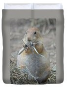 Prairie Dog Food Duvet Cover