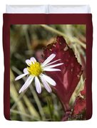 Prairie Flower And Red Lambs Quarter Duvet Cover