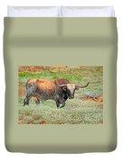 Prairie Longhorn Duvet Cover
