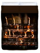 Prayer Candles Duvet Cover