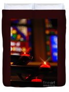 Prayer Candles Trinity Cathedral Pittsburgh Duvet Cover