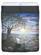 Prayer For Soma Duvet Cover