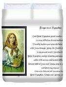 Prayer To St. Dymphna Duvet Cover
