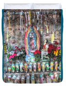 Prayers To Our Lady Of Guadalupe Duvet Cover