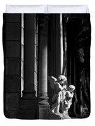 Praying Angle - Sucre Cemetery In Black And White Duvet Cover