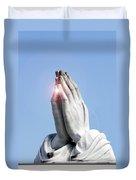Praying Hands Lens Flare Duvet Cover