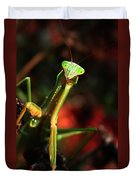 Praying Mantis Portrait Duvet Cover
