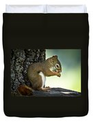 Praying Squirrel Duvet Cover