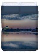 Pre-dawn At The Jefferson Memorial  Duvet Cover