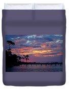 Pre-dawn Colors On Santa Rosa Sound Duvet Cover