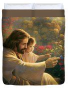 Precious In His Sight Duvet Cover by Greg Olsen