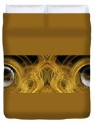 Precious Metal Frog Prince Panorama Duvet Cover by Andee Design