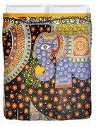 Pregnant Elephant Duvet Cover