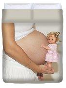 Pregnant Woman  Duvet Cover