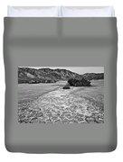 Prehistoric - Clark Dry Lake Located In Anza Borrego Desert State Park In California. Duvet Cover