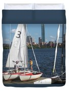 Preparing To Sail In The City. Duvet Cover