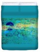 Prescott Blue Abstract Duvet Cover