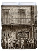 Preservation Hall Sepia Duvet Cover
