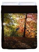 Preserve Trails In Fall Three Duvet Cover