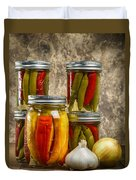 Preserved Peppers Duvet Cover