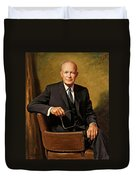 President Dwight D. Eisenhower By J. Anthony Wills Duvet Cover