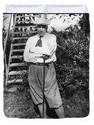 President Harding Playing Golf Duvet Cover