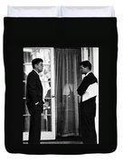 President John Kennedy And Robert Kennedy Duvet Cover