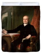 President John Quincy Adams  Duvet Cover by War Is Hell Store