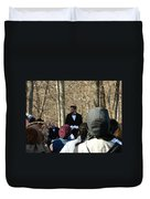 President Lincoln Speaks Duvet Cover