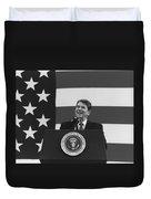 President Reagan American Flag  Duvet Cover