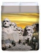President Reagan At Mount Rushmore Duvet Cover