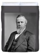 President Rutherford Hayes Duvet Cover