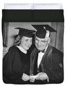 President Truman And Daughter Duvet Cover