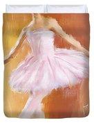 Pretty Ballerina Duvet Cover by Lourry Legarde