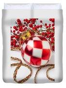 Pretty Christmas Ornament Duvet Cover