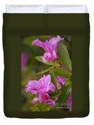 Pretty Fuschia Rhododendron Duvet Cover