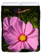 Pretty In Pink Cosmos Duvet Cover